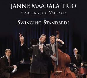 Pianisti Janne Maarala Trio featuring Juki Valipakka Swinging Standards etukansi front cover